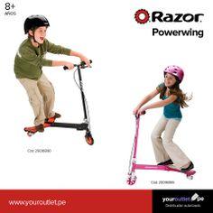 Diversión y ejercicio sano para niñ@S, al mismo tiempo: Powerwing de Razor. Visita nuestras tiendas o entra a nuestra web.