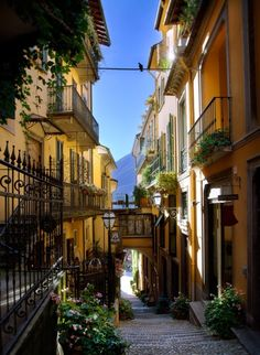 Balconies, Bellagio, Lake Como, Italy