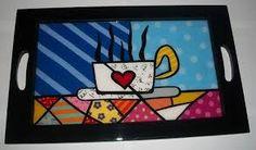 Resultado de imagen para pintar bandejas de desayuno