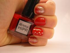 Notes and Nails: Red + Silver Glitter Mani ft. Jenna Hipp Maraschino