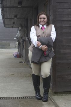 Fuller Fillies Wescott Waistcoat, Ratcatcher Show Shirt, Vixen Show Jacket and Showpro Breeches