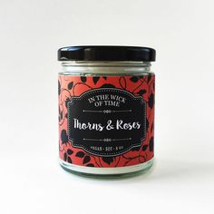Thorns & Roses   A Court of Thorns and Roses Scented Vegan Soy Candle   by IntheWickofTime on Etsy https://www.etsy.com/listing/278316438/thorns-roses-a-court-of-thorns-and-roses