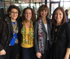 Here's Esther with Joan Axelrod-Siegelwax, president/CEO at EmPowered Possibilities Coaching; Gina Pirozzi, founder of G. Pirozzi Consulting; and Cynthia Metzger, director of corporate relations at Molloy College. The women were among the entrepreneurs attending Joan's talk on personal branding, as part of Molloy's 2017 The Conversation Series. Great event.