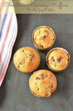 Christmas Morning Muffins ~ Cranberry Orange Muffins