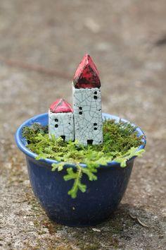 little ceramic houses. by Jenny Walker