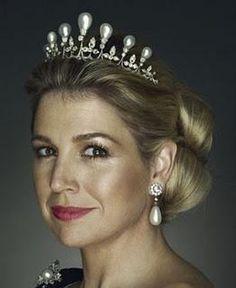 Princess Maxima Tiara Antique Pearl Tiara