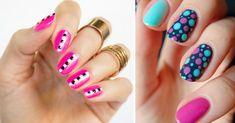 Si hay algo alo que a la mayoría de las mujeres nos encanta dedicarle tiempo, es a pintarnos las uñas. Desde escoger el color de esmalte que queremos usar por unos días, hasta tratar de buscar diseños fáciles y genialesque podamos hacer en casa. En OkChicas nos encanta darte tips y mostrarte di Classy Nails, Stylish Nails, May Nails, Dots Design, Nail Polish Colors, You Nailed It, Creative Design, Nail Designs, Nailart