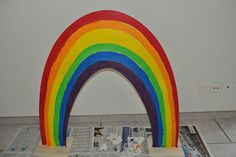 Patrick's Day wooden Rainbow Sometimes people are asking me where I get my creative ideas. Rainbow Cupcakes Recipe, Saint Louis Arch, Wooden Rainbow, Rainbow Crafts, Pot Of Gold, Luck Of The Irish, Make An Effort, Reception Areas