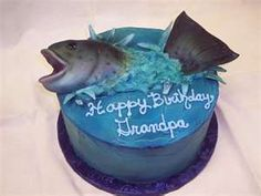 Reel them in with one of these fishing birthday cakes for men. Imagine getting your husband or your father a fisherman cake for his birthda. Gone Fishing Cake, Fishing Cupcakes, Fish Cake Birthday, Birthday Cake Pictures, Birthday Ideas, 30th Birthday, Birthday Parties, Fisherman Cake, Water Party