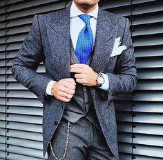 Gentleman's style — #ilmarchese1984 #gentlemansfashion #menswear...
