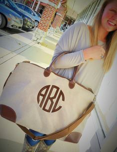 Jute Weekender Bag Monogram Etsy, minus the pink. Maybe pewter or gray. Circle Font, Monogram Fonts, Monogram Bags, Southern Belle, Southern Prep, Bright Pink, Purses And Bags, Girly, Tote Bag