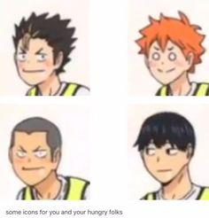 Matching Haikyuu icons