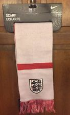 Nike England Football FA Soccer Scarf FIFA World Cup Reversible NWT New 598093