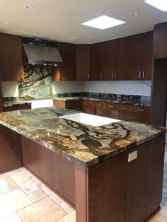Arizona Tile Desert Canyon is quarried from a bedrock canyon in Brazil, this granite will range from brown and gold, to blue and gray, all within the same slab. Kitchen Post, Kitchen Rack, Kitchen Images, Kitchen Pictures, Kitchen Ideas, Kitchen Decor, Ikea Chandelier, Kitchen Chandelier, Chandeliers