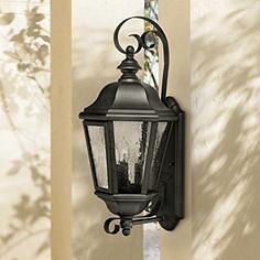 "Hinkley Edgewater Black 21"" High Outdoor Wall Light"