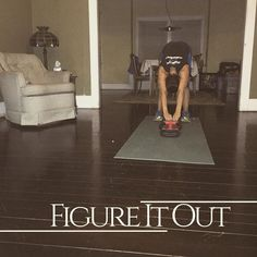 Figure it out to work out! Wooden floor means my kids can feel me working out in the next room! I'm figuring it out anyway... I can still have my 5am workouts!  Because exercising in the morning starts your metabolism giving you more energy so you can be more alert! Who loves a more productive day!? #vitalbehaviors #vitalbehavior