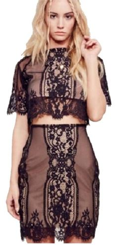 For Love & Lemons Lace Mini Skirt. Free shipping and guaranteed authenticity on For Love & Lemons Lace Mini Skirt at Tradesy. For Love and Lemons skirt skirt is brand new. Shir...