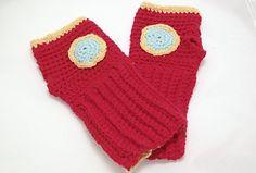 Free crochet tutorial iron man fingerless mittens Crafternoon Treats 33 part 1 Crochet Men, Crochet Kids Hats, Crochet Amigurumi Free Patterns, Crochet Mittens, Mittens Pattern, Crochet Gloves, Free Crochet, Hat Crochet, Crochet Pattern