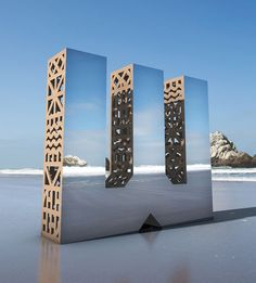 Gestalten | Character SF Designed Giant Mirror Letters To Show That Design Is All Around Us