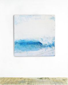 gonville: pigmented plaster, encaustic, oil paint on wood panel, by David Gonville