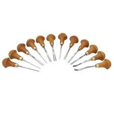 Buy pfeil Swiss made Palm Handled Carving Tool Set, 12 piece at Woodcraft.com