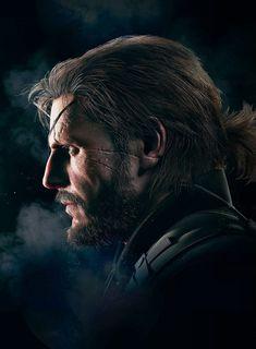Metal Gear V, Metal Gear Solid Quiet, Big Boss Metal Gear, Snake Metal Gear, Hack And Slash, Kojima Productions, Side Profile, Man Profile, Snake Art