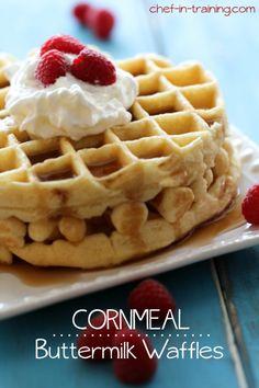 Cornmeal Buttermilk Waffles