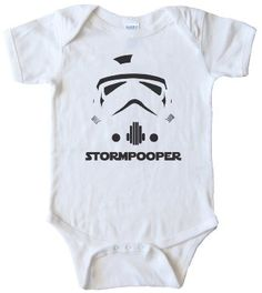 STAR WARS STORMTROOPER - BABY ONESIE @Dawn Parrish is it too early for Colby to get in to it?!