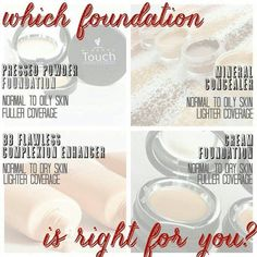 This guide will also help you pick the perfect foundation product based on your needs!