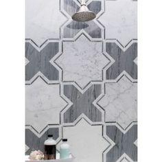 Meraki White Carrara And Bardiglio Marble Tile | Tilebar.com