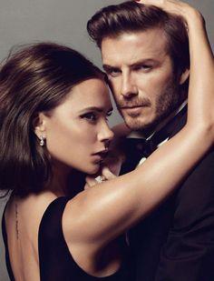 Victoria y David Beckham en portada de Vogue París Diciembre/Enero 2014