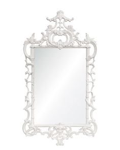 White Lacquered Chippendale Mirror $500 from $1060