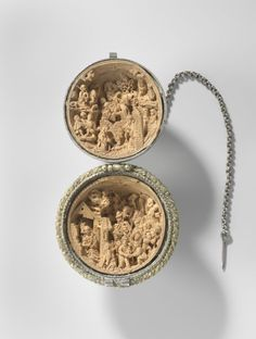extremely rare silver 'prayer nut', containing miniature carvings only millimetres in size, depicting the birth of Christ and the Adoration of the Magi at the Rijksmuseum