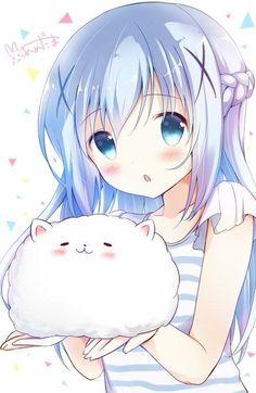 Chino-channnn ❤❤❤❤❤ Kawaii Anime Girl, Loli Kawaii, Pretty Anime Girl, Kawaii Chibi, Beautiful Anime Girl, Anime Art Girl, I Love Anime, Manga Girl, Anime Boys