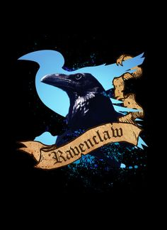 Ravenclaw Art Print by Markusian -- Ravenclaw is one of the four Houses of Hogwarts School of Witchcraft and Wizardry, founded by Rowena Ravenclaw. Members of this house are characterised by their wit, learning, and wisdom. Its house colours are blue and bronze, and its symbol is the eagle. Many great wizards and witches have come from this house, including Filius Flitwick, Garrick Ollivander and Luna Lovegood. Ravenclaw roughly corresponds with the element of air; the House colours are blue…