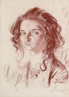 Augustus John Portrait of Dorelia - Note the sneer.