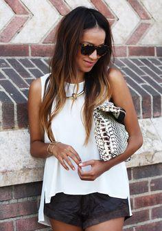 Cute shorts. Black + white combo.