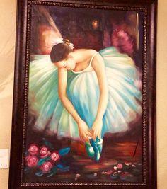 Ballerina oil painting Closetconnoisseurresale.com #saresale #SanAntonioresale #bestresale #consignment #closetconnoisseur  #closetconnoisseurresale #homedecor #homedecoration #art #furniture #jewelry
