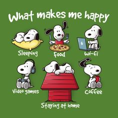 What makes snoopy happy - # Snoopy Cartoon, Peanuts Cartoon, Peanuts Snoopy, Cartoon Art, Peanuts Comics, Make Me Happy, Are You Happy, Snoopy Pictures, Snoopy Wallpaper