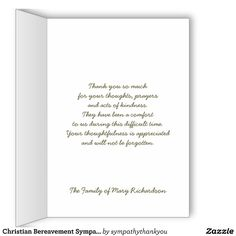 Bamboo Personalized Sympathy Thank You Cards - English or Spanish ...