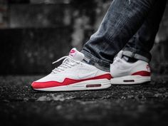 various colors 61fde a4207 Nike Air Max 1 Engineered Mesh - White Red - 2013 (by Jan Hünniger