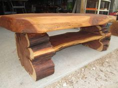 Eastern red cedar Cedar Furniture, Rustic Outdoor Furniture, Live Edge Furniture, Tree Furniture, Cedar Table, Wood Slab Table, Wood Table Design, Country Dining Tables, Rustic Table