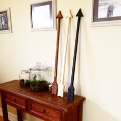 Arrow Wall Art - Giant Wooden Arrow - Wood Arrow - Hook Rack
