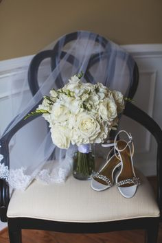 An Elegant Purple and Ivory Barn Wedding