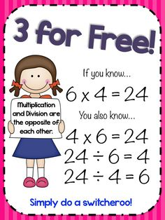Teaching Maths with Meaning 3 for Free - Fact Family Triangles for Multiplication and Division