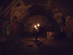 Today the bunker is empty and makes a big impression. - Night Tour In The Paris Catacombs Best of Web Shrine Messy Nessy Chic, Air Raid, France Photos, Catacombs, Bunker, Underworld, Abandoned, Tours, Paris