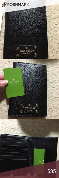 Kate Spade Passport holder Brand new Kate Spade passport holder w/ original tags.  This passport holder has credit card slots.  Really great for traveling. Retails for $58 plus tax. kate spade Accessories
