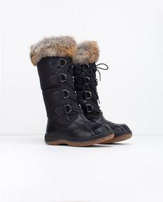 Winter Boots| RUDSAK (BLACK/NATURAL , GENUINE LEATHER/RABBIT FUR) | BEGONIA | RUDSAK