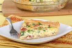 Easy Ham, Broccoli & Swiss Cheese Quiche #Recipe