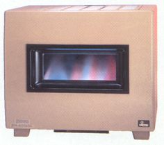 Visual Flame Console Vented Room Heater W Blower Rh65b